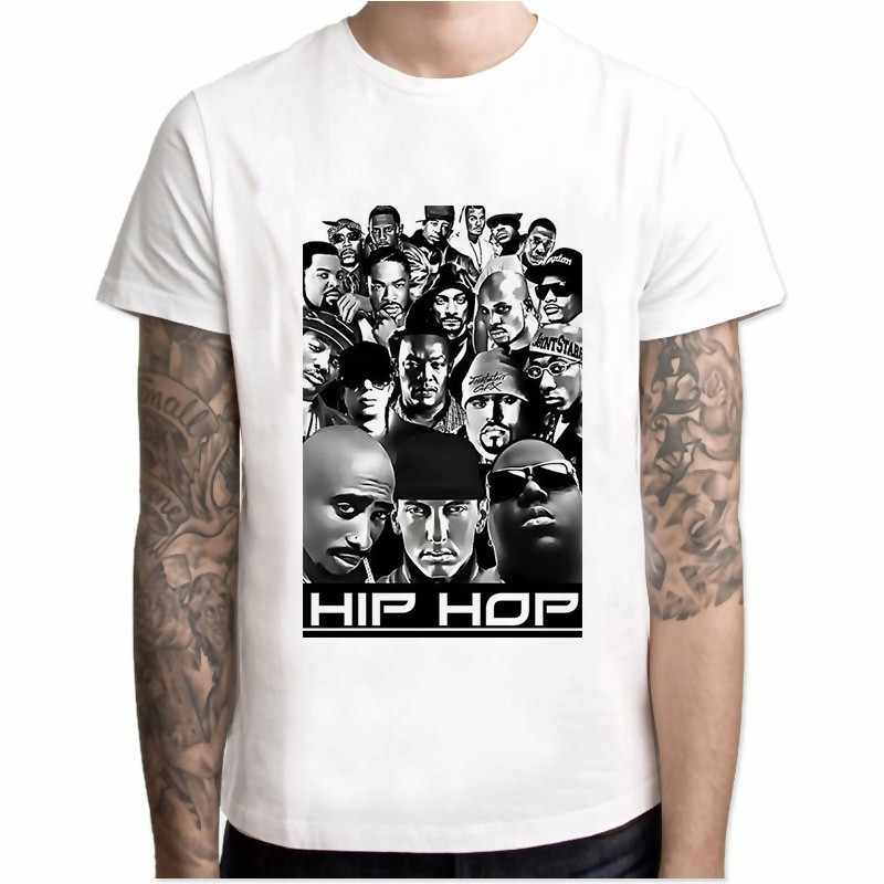 Футболка Eminem Мужская футболка в стиле хип-хоп футболки Makaveli Rapper Snoop Dogg Biggie Smalls J Джей Коул-z Savage Hip Hop Rap верхняя одежда с музыкальным рисунком