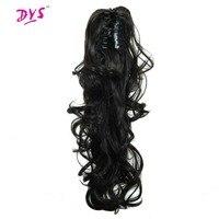 Deyngs Pferdeschwanz Haarverlängerungen 24 zoll 160g Synthetische Tress Klaue In Pferdeschwanz Haarverlängerung Für Frauen Natürlich Falsche Haarteil