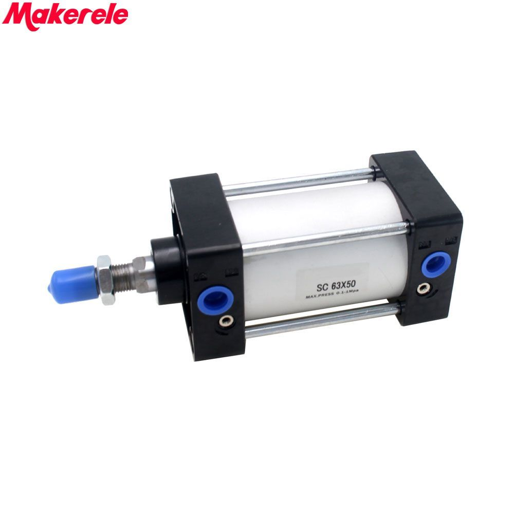 Mini Pneumatic Cylinder Double Acting Air Cylinder 63mm Bore 50mm Stroke Free Shipping Makerele 50mm bore 50mm stroke aluminum alloy double action air cylinder free shipping