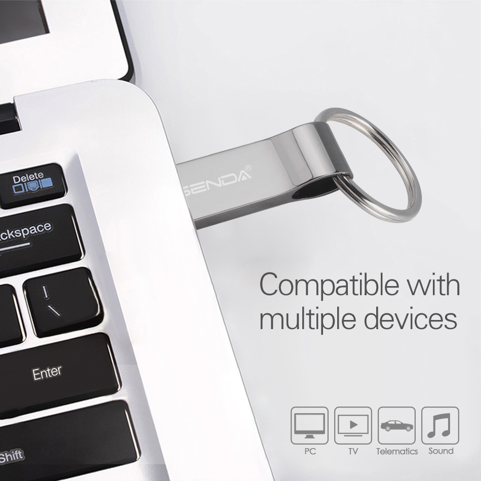 Image 5 - Wansenda Водонепроницаемый USB Flash Drive металлическая ручка привода 4 ГБ 8 ГБ 16 ГБ 32 ГБ 64 ГБ флешки USB флэш диск с брелок-in USB флэш-накопители from Компьютер и офис