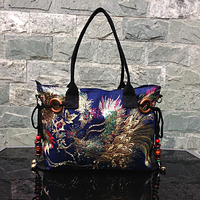 Chinese National Women S Embroidery Nulti Use Bags Fashion Tassles Shoulder Handbags Fashion Shopping Causal Tote