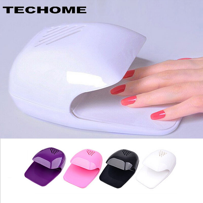 Portable Mini Uv Touch Type Nail Dryer Fan For Curing Nail Gel Polish Dryer Winds Uniform Quickly Dries Wet Nails with Battery
