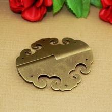 1Pcs Vintage Brass Cabinet Door Hinges 6 Holes Door Hardware Furniture Wooden Box Cloud Flower Hinge,8cm