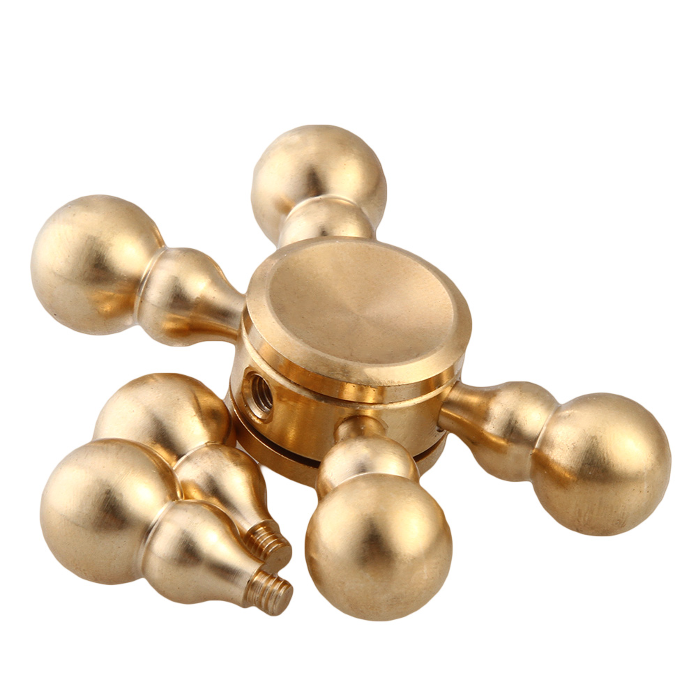 2017 New Finger Spinner Brass Metal Spinner Relieve Stress Funny Toys Stress Relief Toy Spiner