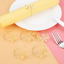 6Pcs Christmas Snowflake Napkin Ring Serviette Holder Party Wedding Dinner Drop Ship Tables
