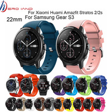 22mm Silicone Sport Watch Band For Samsung Gear S3 Smart Watch Strap For Xiaomi Huami Amazfit Stratos 2/2s Replacement Watchband 22mm silicone sport watch band for samsung gear s3 smart watch strap for xiaomi huami amazfit stratos 2 2s replacement watchband
