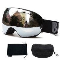 Gogle Double zapakowane HD Anti-fog Snowboard narciarstwo gogle UV400 Okulary Big kulisty kompatybilny krótkowzroczność Okulary Dorosłych