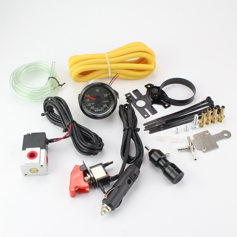 ФОТО New Plug and Play OEM Racing Car Manual Turbo Boost Controller Kit Dual Stage Upgrade With Boost Gauge