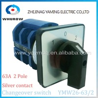 Rotary Switch 3 Postion 690V 63A 2 Pole 8 Terminal YMW26 63 2 Universal Switch Changeover