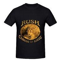 Tendencia 3D tridimensional impresión Rush caricia de acero Rock Album Cover hombres Crew cuello impreso camisetas