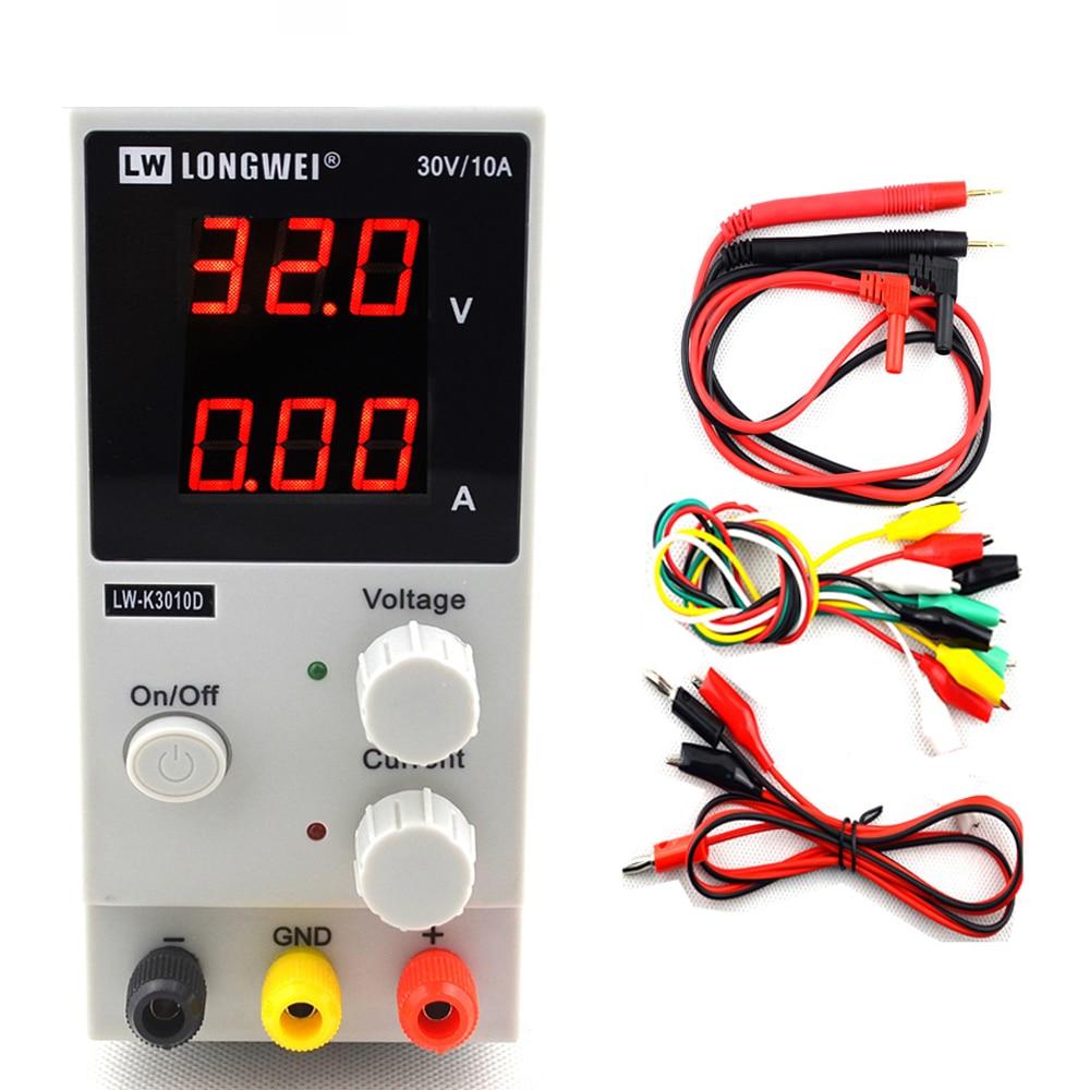 Mini alimentation cc numérique réglable 30V 10A laboratoire alimentation à découpage 110 v-220 v K3010D ordinateur portable réparation de téléphone
