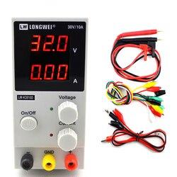 Mini fuente de alimentación Digital ajustable DC 30V 10A, fuente de alimentación conmutada de laboratorio, 110v-220v K3010D, reparación de teléfono portátil, retrabajo