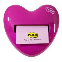 3m post it 76mm * 76mm removível em forma de coração pegajoso dispensador combo notas artigos de papelaria de fornecimento de escritório HD 330