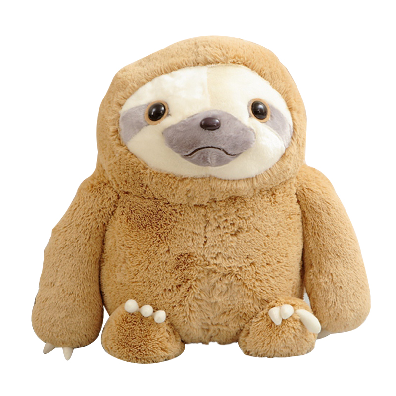 1pc 40cm New Crazy Animal City Cute Sloth The Anime Movie Zootopia Sloth Flash Stuffed Animals Cute Doll For Girl 1 pcs cute anime school stuffed