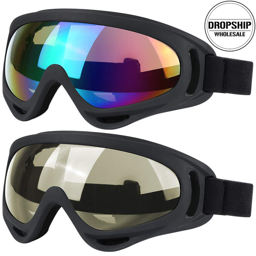 COOL Skiing Goggles Windproof Snow Snowboard Ski Glasses Motocross UV400 Eyewear Winter Dustproof Women Men Airsoft Sunglasses