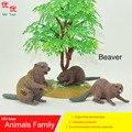 Juguetes calientes: Castor (Lanzador fibra) family pack modelo de Simulación de Animales para niños juguetes educativos para niños accesorios