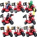 2017 Nuevo DLP 9028 Bloques Bulding Super Heroes NINJA Maestros de Vehículos de Motor de Spinjitzu brinquedos Juguetes Para Niños de Regalo