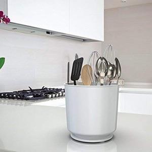 Image 4 - Коробка для хранения вращающийся держатель для посуды Caddy с не Ti взвешенным основанием, съемный разделитель, ящики для хранения ящиков держатель для хранения