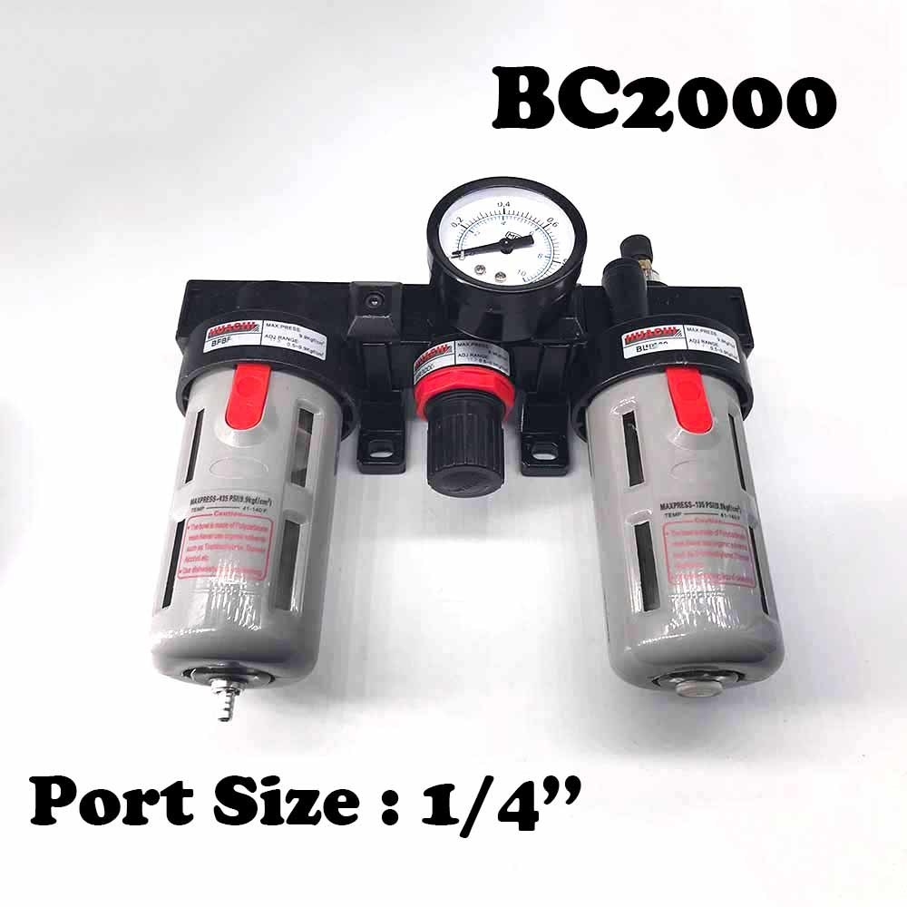 BC2000 free filter three cylinder 1 / 4 cup of water size filter combination air. ac3000 series air filter combinations f r l combination ac3000 02 g1 4