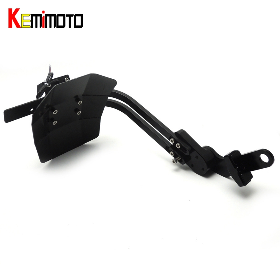 KEMiMOTO For YAMAHA MT 03 MT 25 MT 03 Accessories Mudguard Rear Fender Bracket License Plate