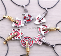 Wholesale Anime Cosplay Jewelry Naruto 7 Different Designs 2014 New Pendant Necklace 10pcs Lot