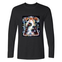 New Xxs 4xl DEF LEPPARD Rock Band Long Sleeve T Shirt Men Slim Fit TShirts And