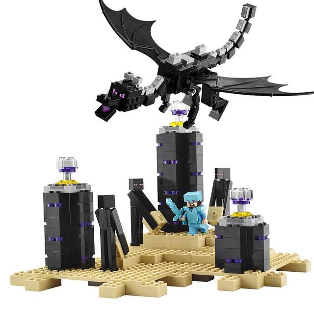 Autoblocante ladrillos de juguete China marca Mi Mundo El Ender Dragón Compatible con lego 21117