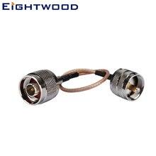 Eightwood Высокое качество ВЧ кабель в сборках N штекер UHF штекер косичка RG316 коаксиальный кабель 15 см настраиваемый 50 Ом