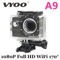 Venda quente Câmera de Ação de 2.0 LCD 1080 P HD Câmera À Prova D' Água 170 de Largura ângulo vyoo marca a9 cam ação esporte câmera sj 4000 go pro