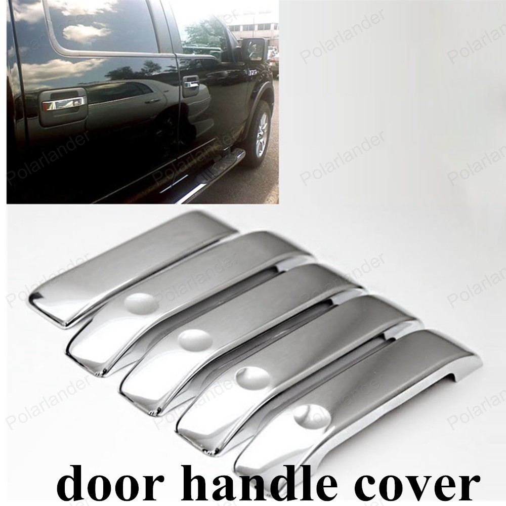 High quality professional car door handle chrome cover service auto tailgate handle cover for ford f150 2004 2014 new