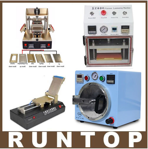 Full set LCD  Screen Repair Refurbished Kit  5 in 1 Separator +Vacuum Laminator + Film laminating Machine+ OCA Bubble Remover free shipping screen repair machine kit ly 946d lcd separator for 5 inch mobile screen 12 in 1 separate machine