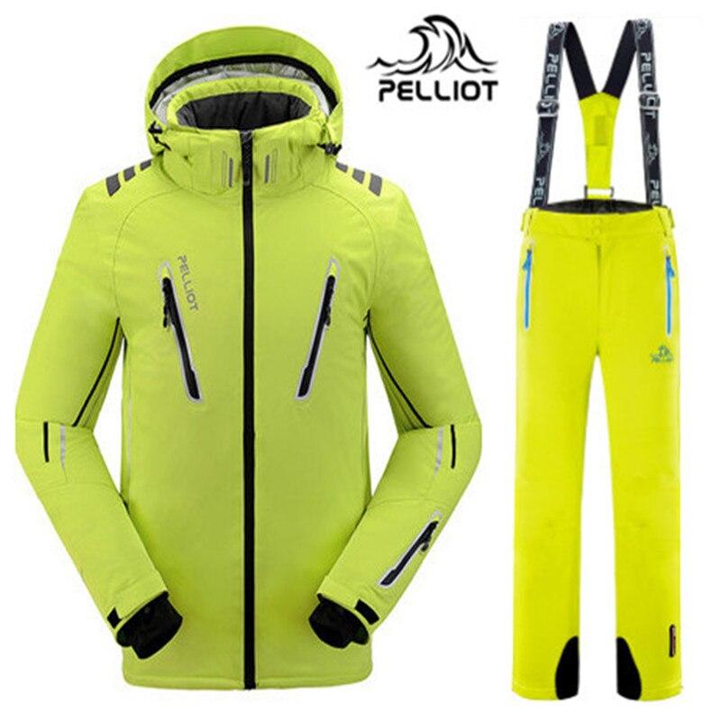 Prix pour Garantie la authentique! 2017 Pelliot mâle imperméable à l'eau de ski costumes veste + pantalon Hommes, respirant thermique cottom rembourré snowboard