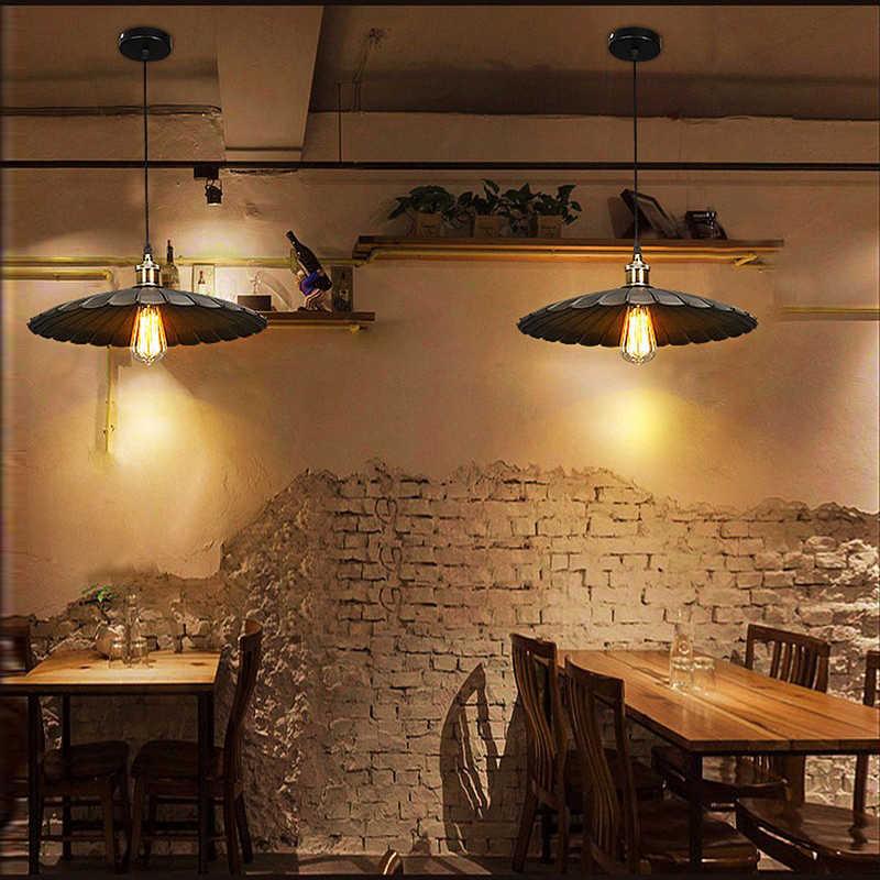 Старинные промышленные лампы 25 см lampara ретро кулон легкий абажур loft огни гостиная столовая сельской местности E27 edison ЛАМПЫ