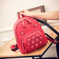 Fashion Small Backpack Female Bag High Quality Pu Leather Women Backpacks Korean Flowers Girls Travel Bookbag Rucksack Mochila