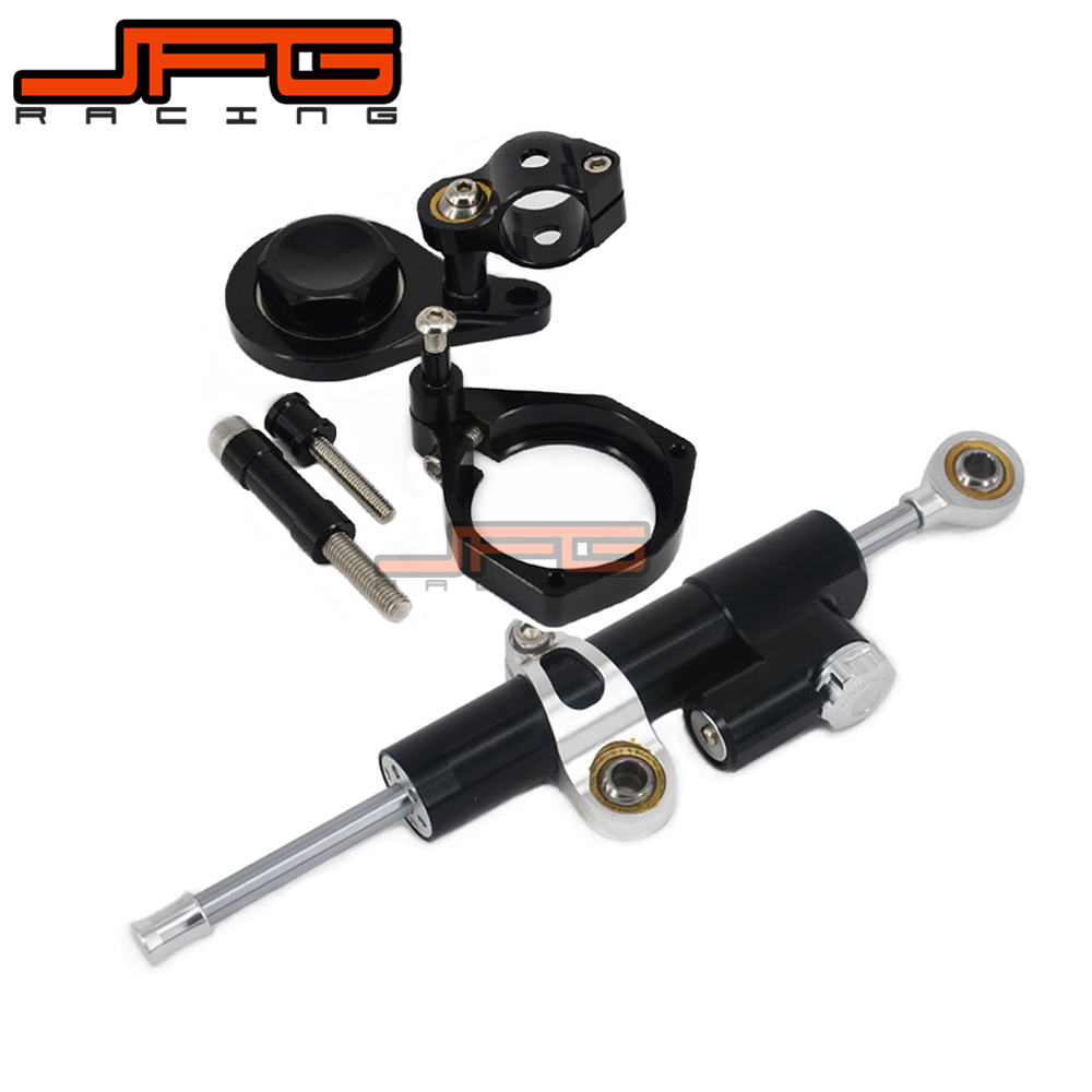 CNC Steering Damper Stabilizer Linear Reversed Safety Control & Adapter Bracket For BMW S1000RR S1000 RR 2010 2011 10 11 cnc steering damper stabilizer linear reversed safety control & adapter bracket for honda cb400 cb 400 vtec 1999 2000 2001 2012