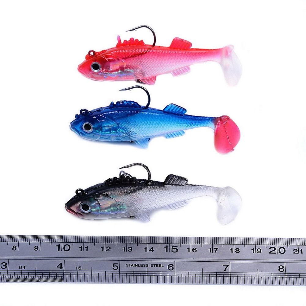 Alomejor Tail Fishing Bait Soft Artificial Fishing Lures Sea Boat Fishing Lure Suitable for Sea River Lake Fishing