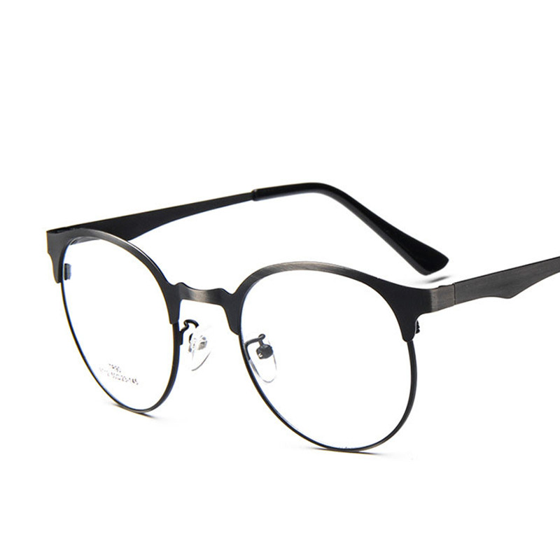 matel frame cat eye reading glasses frames men optical myopia clear lens prescription vintage glasses female