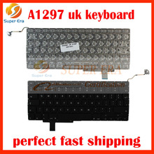 """10PCS/lot Original A1297 UK Keyboard For Apple Macbook Pro 17"""" UK / English Keyboard With Backlight Replacement 2009-2011year"""