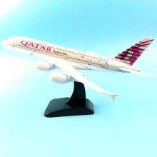 цена на Aliexpress 11.11 Hot sale 20CM QATAR Airlines A380 Airplane model Plane model 16CM Boeing 747 QATAR Aircraft model Toy plane