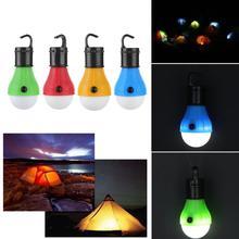 Портативный мини фонарь Палатка светильник Светодиодный лампа аварийная лампа водонепроницаемый подвесной фонарик с крюком для кемпинга 4 цвета использовать 3* AAA 3 режима