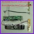 TV/HDMI/VGA/AV/USB/AUDIO LCD driver Board work for 1024x768 1lamp CCFL Lcd Panel