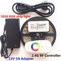 DC12V SMD 5050 RGB Led Strip Waterproof Led Light Flexible Tape 5M 10M 15M 20M+RF Touch Remote Controller+Power Adapter Supply