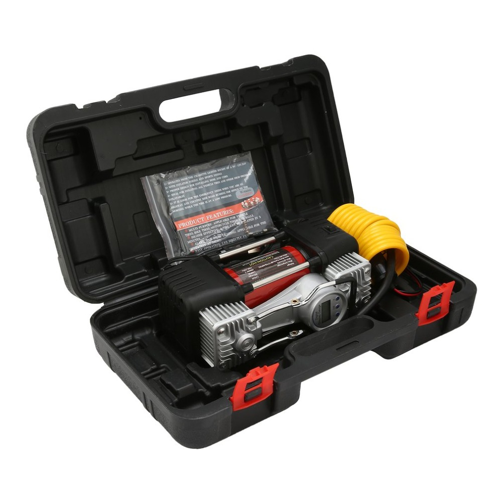 12V Automatic Digital Display Gauge Air Compressor 150Psi Car Tyre Inflator Kit Portable Air Compressor with LED 150l/min chetaitai y17101 preset digital tyre inflator