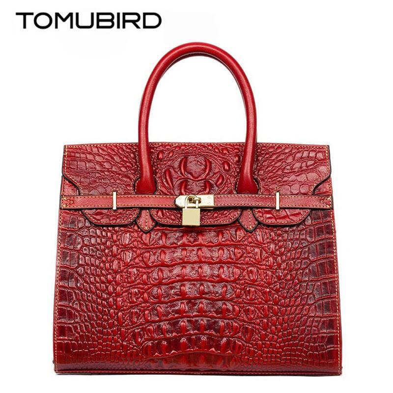 Fashion Genuine Leather bolsa feminina couro Embossing crocodile famous brand women bag fashion Female handbags Tote bag 2017 мужской ремень cinto couro marca