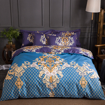 2018 New 4pcs 100% Cotton Printed Art classics Bedding set High-quality Duvet Cover set Bed Sheet Pillowcases Queen King Size