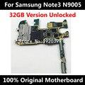 32 gb 100% placa base original para samsung note 3 n9005 europa placa lógica mainboard versión con chips de imei 100% bien de trabajo