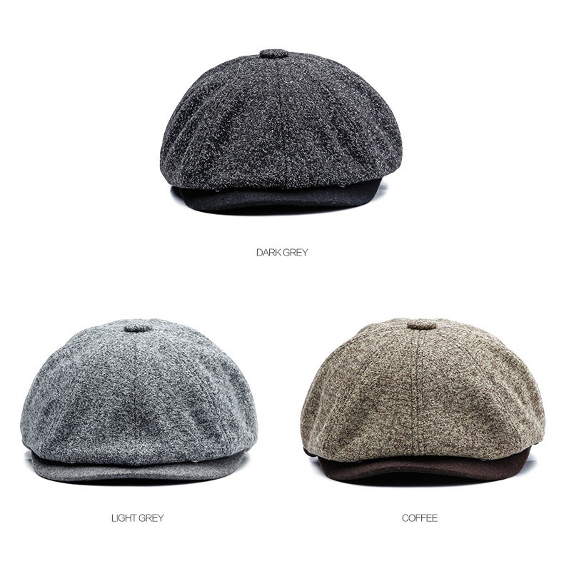 [AETRENDS] 18 Winter Vintage British Style Octagonal Cap Men Women Hat Octagonal Hats Sombrero Cappello Newsboy Cap Z-6611 2