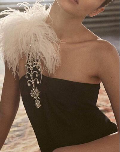 Bandage robe noire Top qualité Sexy célébrité mode boîte de nuit moulante retour robes de soirée une épaule