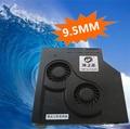 DIY 9.5 MM Ultrafino del ordenador portátil SATA unidad óptica CD modificado cooler ventilador de velocidad Ajustable turbo radiador