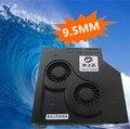 DIY 9.5 MM Ultrafinos laptop SATA CD drive óptico modificado Refrigerador de refrigeração ventilação ventilador de velocidade Ajustável turbo radiador